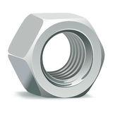 Metallic 3D nut Royalty Free Stock Photography