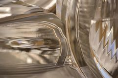 Metallic Abstract 1. Metallic abstract shapes causing motion Royalty Free Stock Image