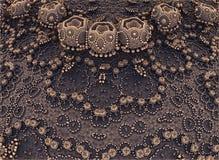 Metallic abstract composition Stock Photos