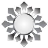 Metallic abstract logo shape Royalty Free Stock Photo