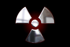 Metallic Alert Sign - radiation Royalty Free Stock Image