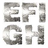 Metallic alphabet. Stock Image