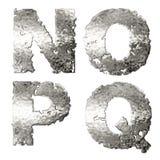 Metallic alphabet. Royalty Free Stock Image