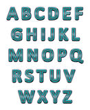 Metallic alphabet. Stock Photo