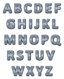 Metallic alphabet. Royalty Free Stock Photos