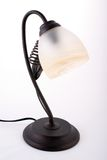 Metallic antique table lamp Stock Photo
