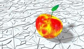 Metallic apple Stock Photo