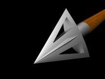 Metallic arrow-head flying to point Stock Photography