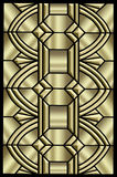 Metallic Art deco design Stock Images