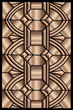 Metallic Art deco design. An ornamental art deco pattern rendered in beautiful metallic tones Royalty Free Stock Images