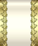 Metallic Art Deco Frame Stock Images