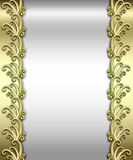 Metallic Art Deco Frame stock photos