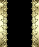 Metallic Art Deco Frame Stock Photography
