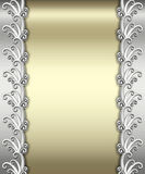 Metallic Art Deco Frame Stock Image