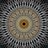 Metallic Art Deco Sunburst Pattern Royalty Free Stock Photography