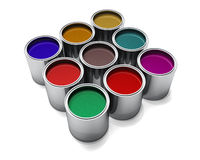 Metallic Automotive Paints. Rendered on white Royalty Free Stock Images