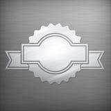 Metallic award sign on grey Stock Photo