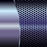 Metallic backdrop. With hexagon grid and copy space - eps 8 vector format Royalty Free Stock Images