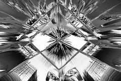 Metallic Background. A silver metallic background or wallpaper design royalty free illustration