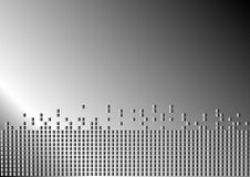 Metallic Background. Abstract Background - Metallic Silver Dots on Grey Gradient Background / Vector stock illustration