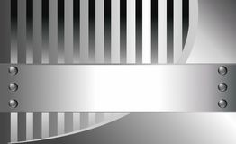 Metallic background. With place for your text royalty free illustration