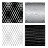 Metallic background. In different variations on the white Royalty Free Stock Photography