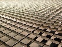 Metallic background. Metalic grid lit from beneath Royalty Free Stock Image