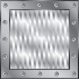 Metallic background. Shining metallic modern frame background Royalty Free Stock Image
