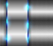 Metallic background. Metallic or chrome abstract background vector illustration Royalty Free Stock Photos