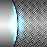 Metallic background. Metallic or chrome background or texture with blue light vector illustration Stock Image