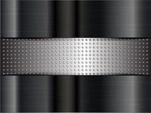 Metallic background. Metallic or chrome background or texture  vector illustration Stock Image