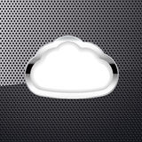 Metallic background with a cloud Stock Photos