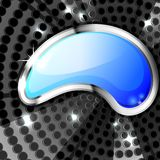 Metallic background with glossy speech bubble Stock Images