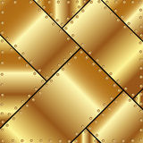 Metallic background of gold plates Royalty Free Stock Photos