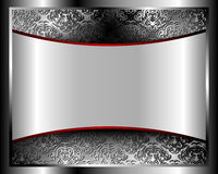 Metallic background with a pattern 2 Stock Photo