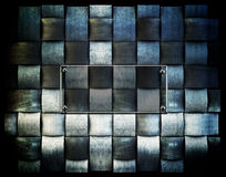 A metallic background plate Stock Image