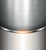 Metallic background. Polished steel texture, vector Royalty Free Stock Images