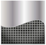 Metallic background polished steel texture, vector Royalty Free Stock Photos