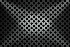Metallic Background with Round Holes Royalty Free Stock Photo