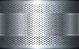 Metallic background silver Stock Photography