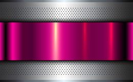 Metallic background silver pink. Polished steel texture, vector design vector illustration