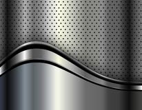 Metallic background silver. Polished steel texture, vector design stock illustration