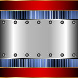 Metallic background of steel plates Royalty Free Stock Photos