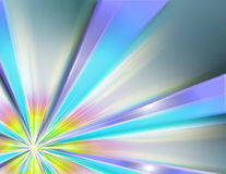 Metallic background w/multicolored burst. A metal background with a burst in several colors royalty free stock photos