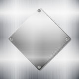 Metallic background witth plate Stock Image