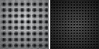 Metallic backgrounds with holes Royalty Free Stock Images