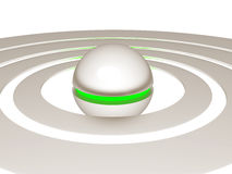 Metallic ball with green core royalty free illustration