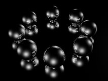 Metallic balls Royalty Free Stock Photos