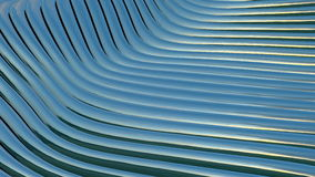 Metallic bands waving. Abstract technology. Seamless loop stock video footage
