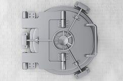 Metallic Bank Vault Door. 3d Rendering Stock Image
